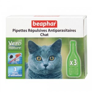 Pipettes antiparasitaires chat Beaphar®