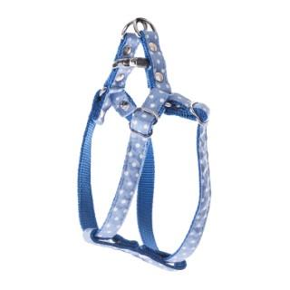 Harnais baudrier Pois pour chien coloris bleu - S 120262