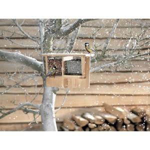 Distributeur graines oiseaux Woody dual 30cm 157771