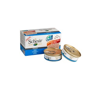 Boîte Chat - Schesir® Thon + bouillon Pack de 6 x 50g 159209