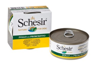 Boîte Chien - Schesir® Pâtée aux Filets de Poulet avec Jambon en Gelée - 150g 164086