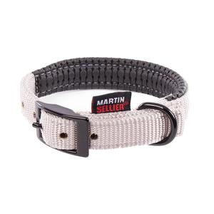 Collier droit Confort pour chien coloris gris - 2,5x55 cm 170238