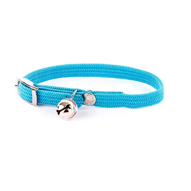 Collier élastique pour chat bleu 10121