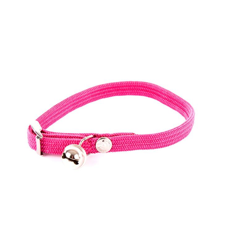 Collier élastique pour chat rose 10124