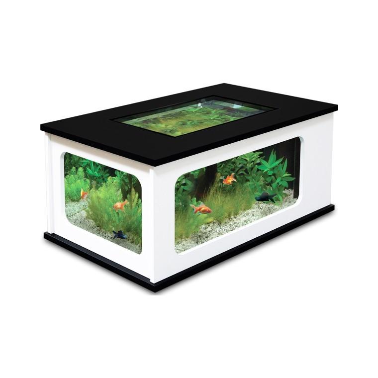 Aquarium Table basse 192L blanc / noir - Aquatlantis 118231