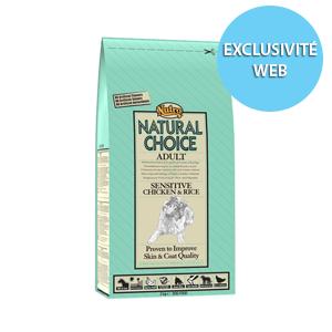 Croquettes Chien -  Natural Choice adulte sensible poulet NUTRO  12kg 120134