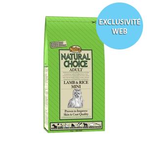 Croquettes Chien -  Natural Choice adulte mini agneau NUTRO  2kg 120140