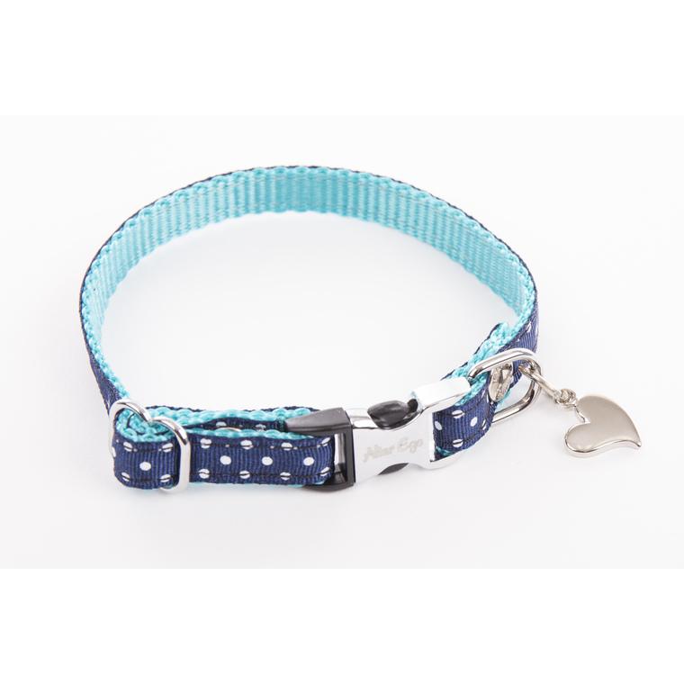 Collier Pois pour chien coloris bleu - XS 120231