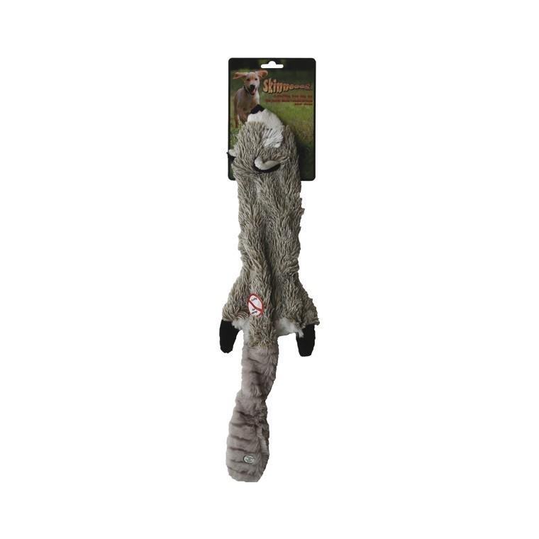 Jouet chien peluche Skinneeez raton laveur 60cm 14494