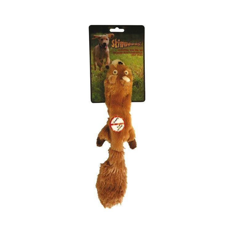 Jouet chien peluche Skinneeez écureuil 34cm 14496