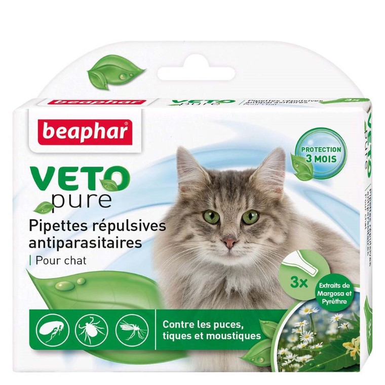 Pipettes antiparasitaires chat Beaphar® 155993