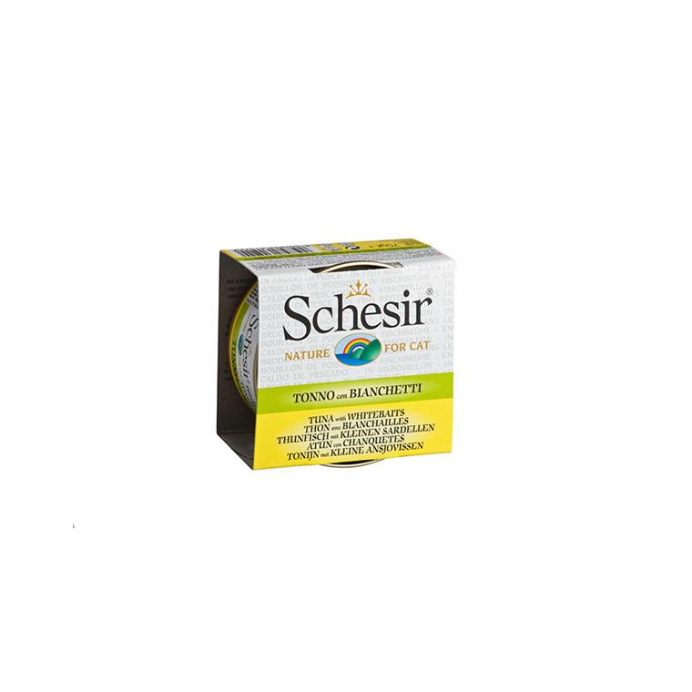 Boîte Chat - Schesir® Thon Blanchailles + bouillon 70 g 159200