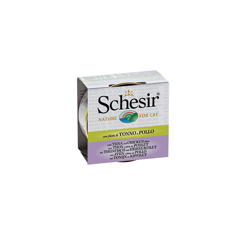 Boîte Chat - Schesir® Thon Poulet + bouillon 70 g 159202