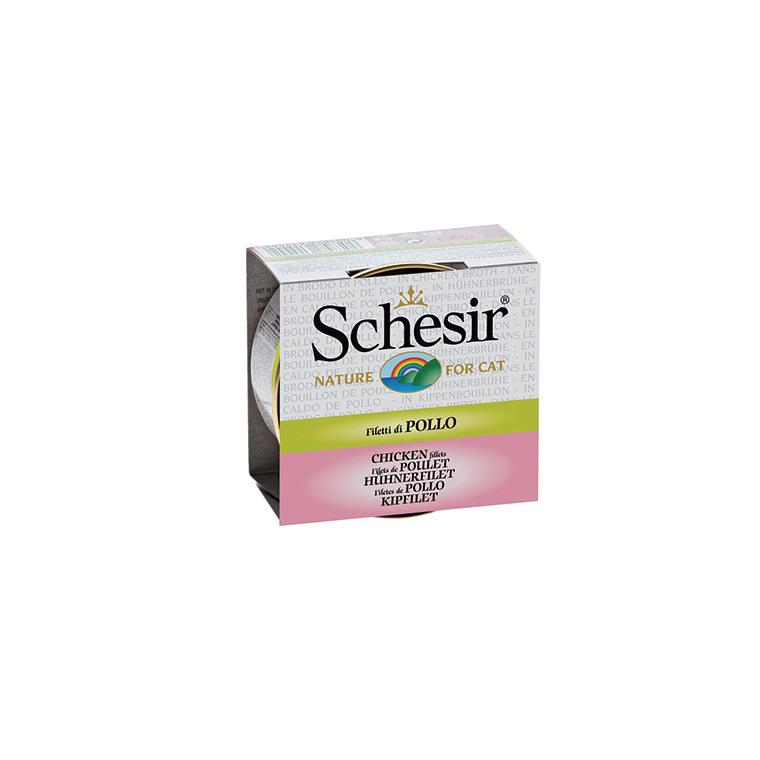 Boîte Chat - Schesir® Poulet + bouillon 70 g 159203