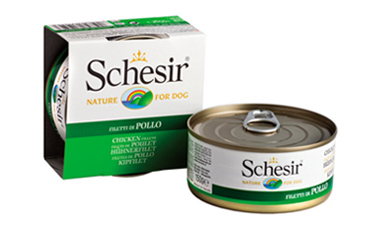Boîte Chien - Schesir® Pâtée aux Filets de Poulet en Gelée - 150g 163228