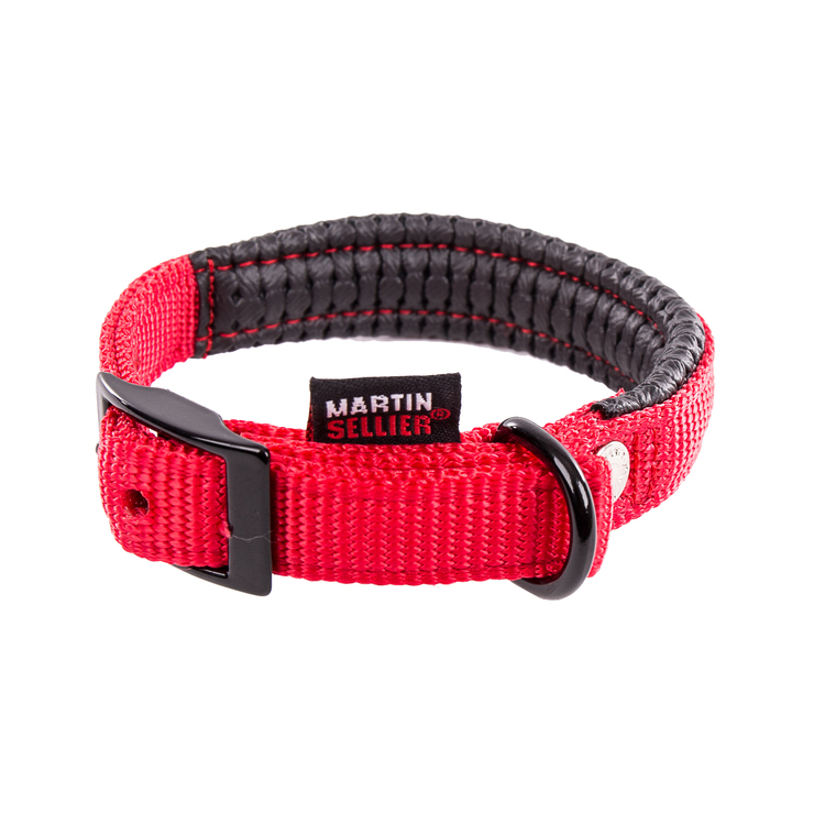 Collier droit Confort pour chien coloris rouge - 1,6x35 cm 170223