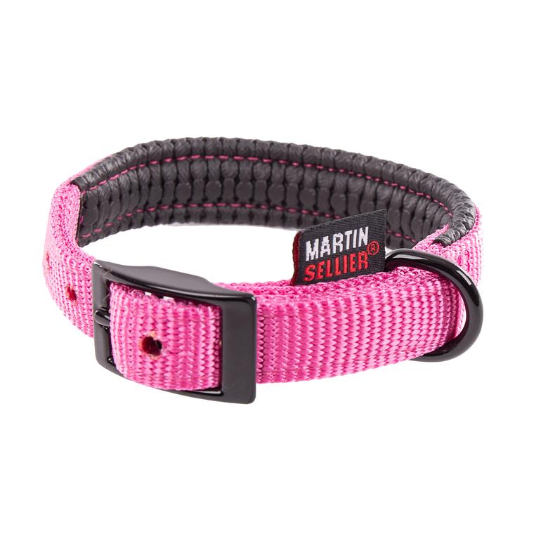 Collier droit Confort pour chien coloris rose - 2x45 cm 170235