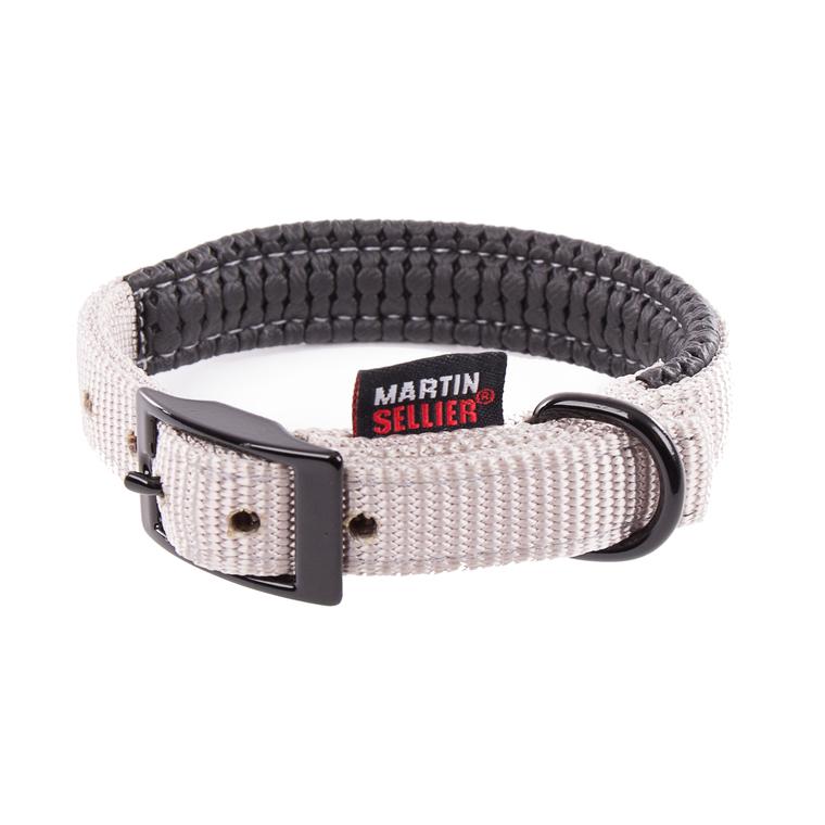 Collier droit Confort pour chien coloris gris - 2,5x65 cm 170243