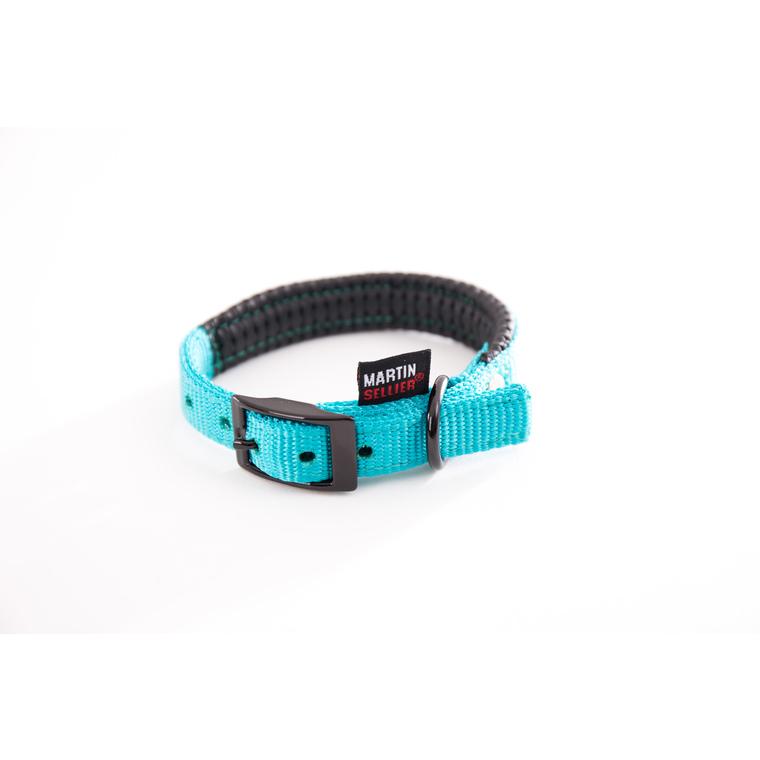 Collier droit Confort pour chien coloris turquoise - 2,5x65 cm 170246
