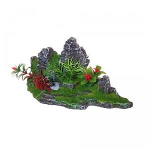 Décor aquarium roche fleuri 25cm 178934
