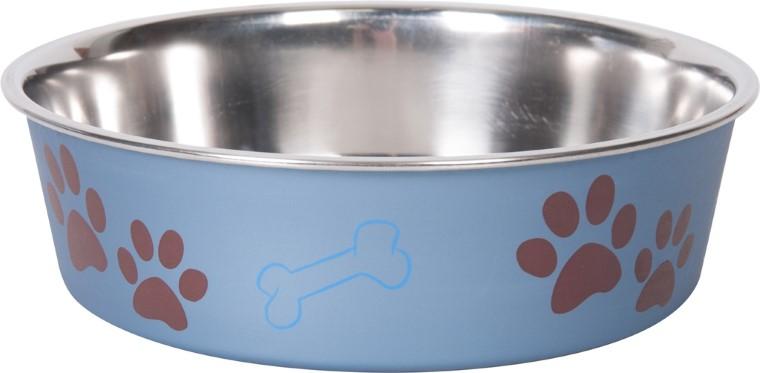 Gamelle chien - Bella bleu métal - 21 cm 193492