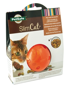 Jouet Chat - Balle distributrice SlimCat™ orange 15544