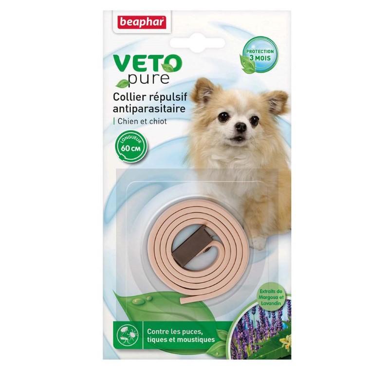 Collier antiparasitaire pour chien et chiot Beaphar® Veto Pure Beige - 60cm 179971