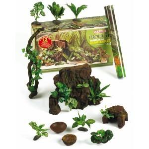 Kit démarrage terrarium déco Tropical 12 décors