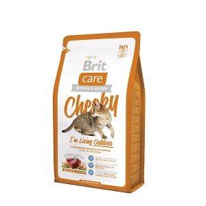 Croquettes chat extérieur - Brit Care Cat Cheeky I'm Living Outdoor - 2kg 234356