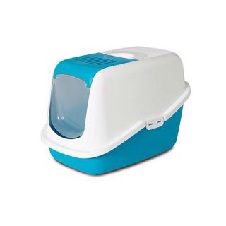 Maison de toilette pour chat Nestor Bleue 257647