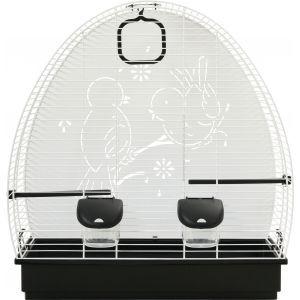 Cage à oiseaux Soleil 52 blanche et gris 278801