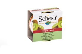 Boîte Chat - Schesir® Pâtée au Thon avec morceaux de Kiwi - 75g 280828