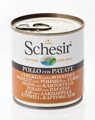 Boîte Chien - Schesir® Pâtée de Poulet et Pomme de terre en Gelée - 285g 280830
