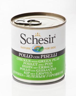 Boîte Chien - Schesir® Pâtée de Poulet et Pois en Gelée - 285g 280832