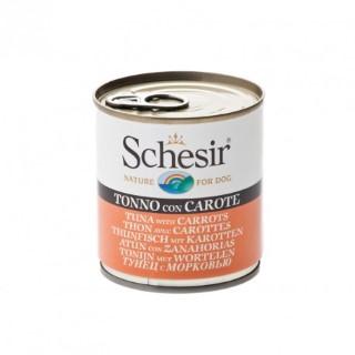 Boîte Chien - Schesir® Pâtée de Thon et Carottes en Gelée - 285g 280834