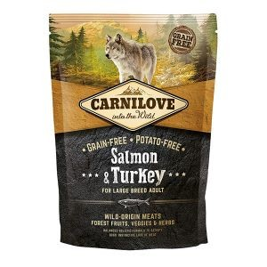 Croquettes Chien Adulte Maxi - Carnilove Salmon & Turkey Large Breed 1,5kg 281345