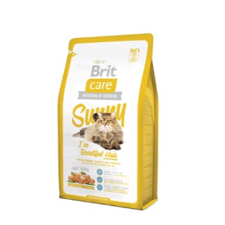 Croquettes Chat - Brit Care Cat Sunny I've Beautiful Hair 2kg 281363