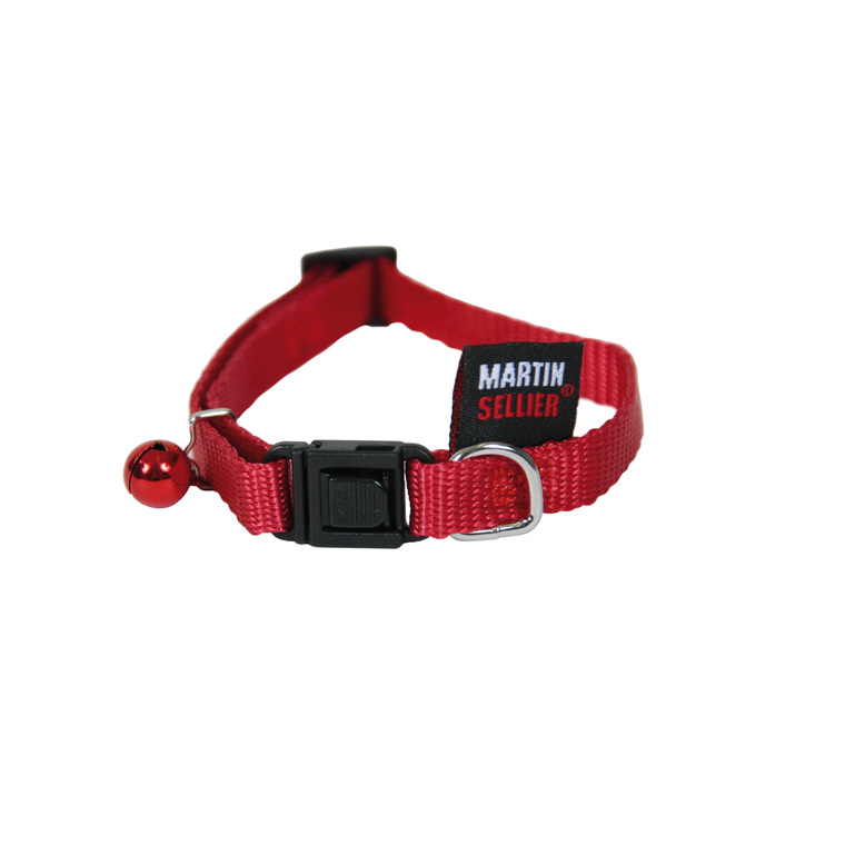 Collier pour chat en nylon rouge 210805