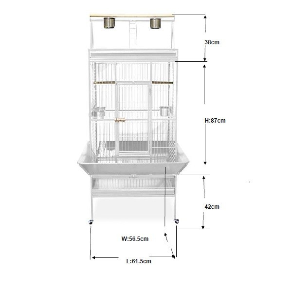Cage perroquet large Blanche 229984