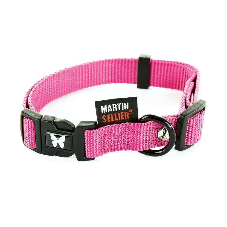 Collier réglable en nylon rose pour chien - 2,5x45/65 cm 231985