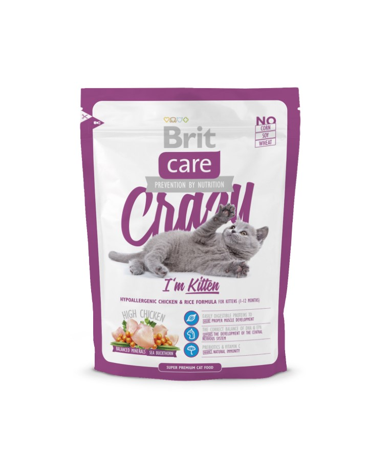 Croquettes Chat - Cat Crazy I'm kitten 0,4kg 234345