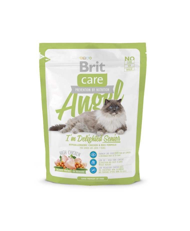 Croquettes Chat - Brit Care Cat Angel I'm delighted Senior 0,4kg 234350