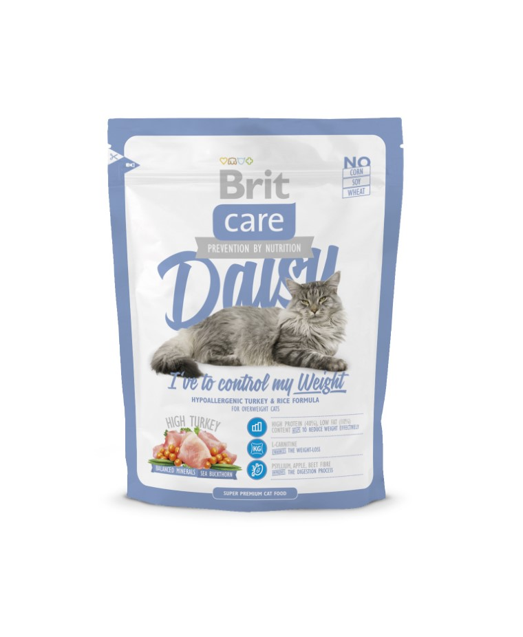 Croquettes Chat - Brit Care Cat Daisy I've to control my weight 0,4kg 234357