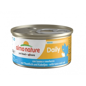Boîte Chat - Daily Menu Mousse Thon / Morue 85g Almo Nature® 234541