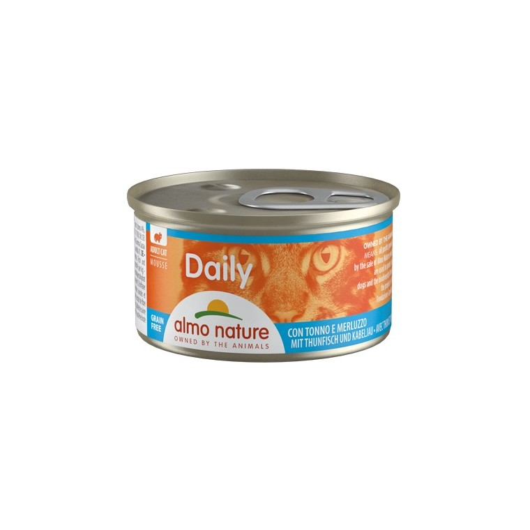 Boîte Chat - Daily Menu Mousse Thon / Morue 85g Almo Nature® 234541