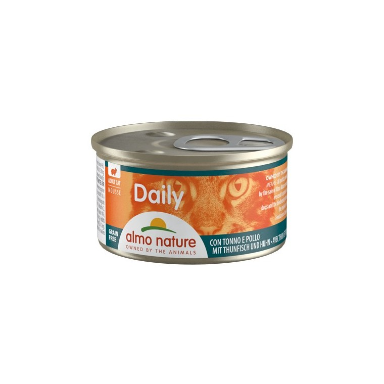 Boîte Chat - Daily Menu Mousse Thon / Poulet 85g Almo Nature® 234542