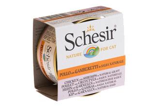 Boîte Chat- Schesir® Pâtée au Poulet et Crevettes en Sauce -  70g 234552