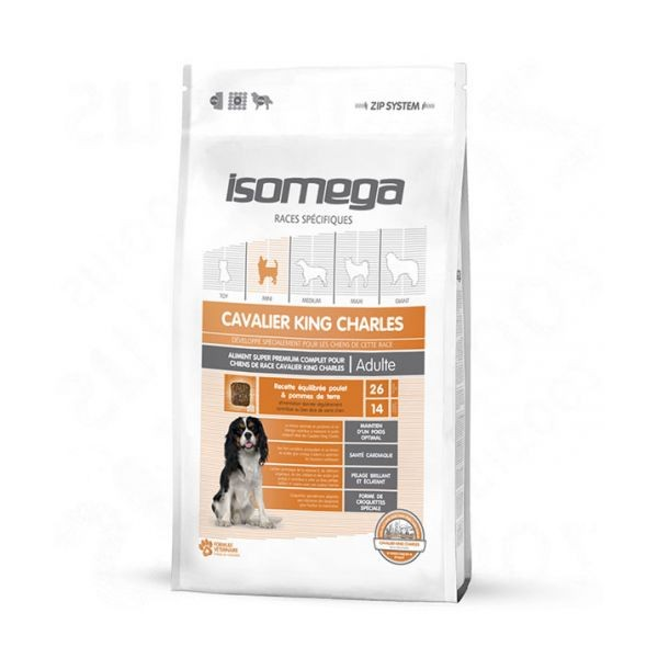Croquettes chien adulte - Isomega Cavalier King Charles - 4kg 234636