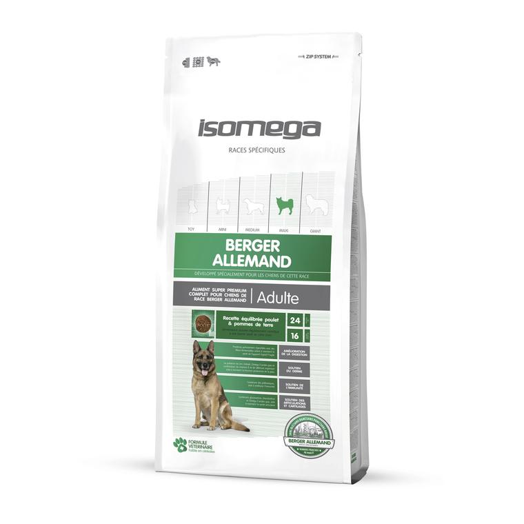 Croquettes chien adulte - Isomega Berger Allemand - 12 kg 235042
