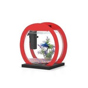 Aquarium Design globe 280 équipée rouge/noir 246032